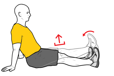 Elevación de la pierna en extensión