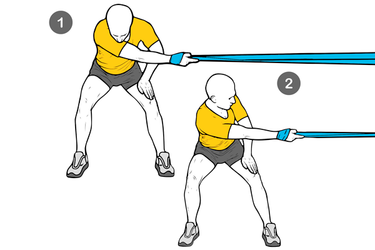 Estiramiento lateral de hombro