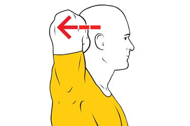 Extensión isométrica de cuello