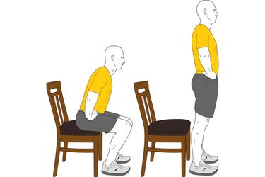 Levantarse desde sentado
