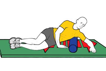 Masaje del dorsal ancho con roller foam