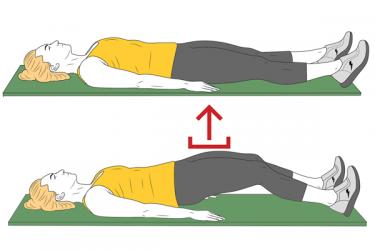 Puente con extensión de rodillas