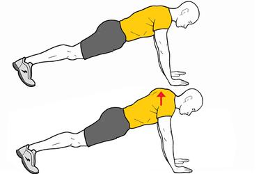 Retracción y protracción escapular en posición de plancha