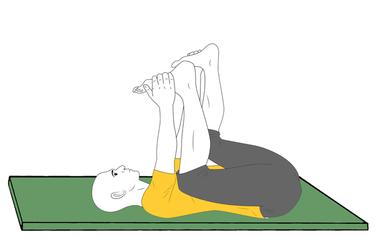 Yoga: Postura del bebe feliz