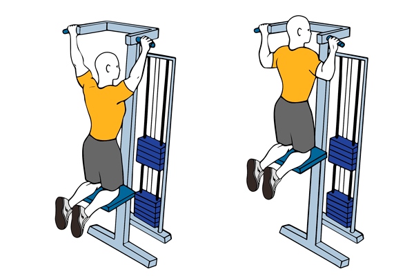 Machine assisted pull-ups