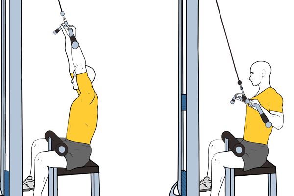 Wide-bar pull down