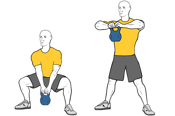 SUMO SQUAT + KETTLEBELL UPRIGHT ROW