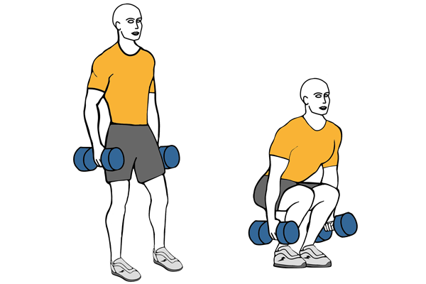 Dumbbell half squat