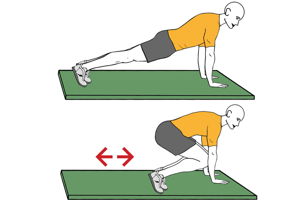 Plank and hip flexon