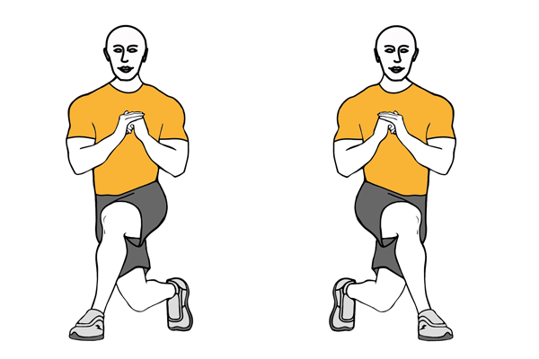 CROSSING FRONT LUNGES